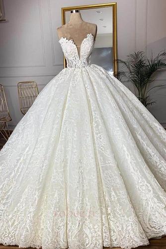 Robe de mariée Sans courroies Sans Manches Glissière Luxueux - Page 3