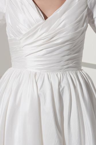 Robe de mariée Courte Haute Couvert Col en V Foncé Naturel taille - Page 5