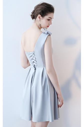 Robe de demoiselle d'honneur Longueur de genou Satin Norme A-ligne - Page 10