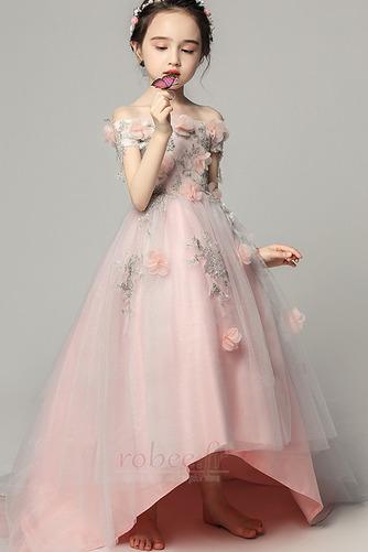 Robe de fille de fleur Satin Fleurs Été Fermeture à glissière - Page 5
