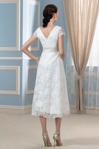 Robe de mariée Dentelle Luxueux Longueur de genou Taille haute - Page 3