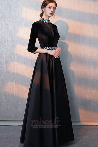 Robe de bal Fermeture éclair Montrer Luxueux A-ligne Col en V Foncé - Page 4