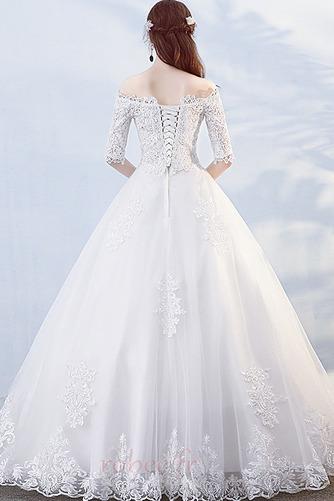 Robe de mariée Formelle Manche Demi Salle Longueur au sol A-ligne - Page 2