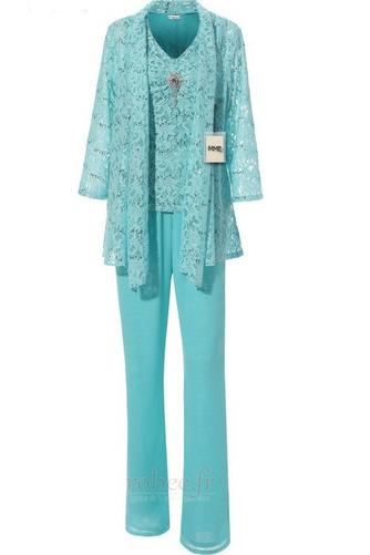 Robe mères Un Costume Luxueux Avec des pantalons Couvert de Dentelle - Page 1