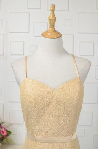 Robe de demoiselle d'honneur Longue Sans Manches Naturel taille - Page 3