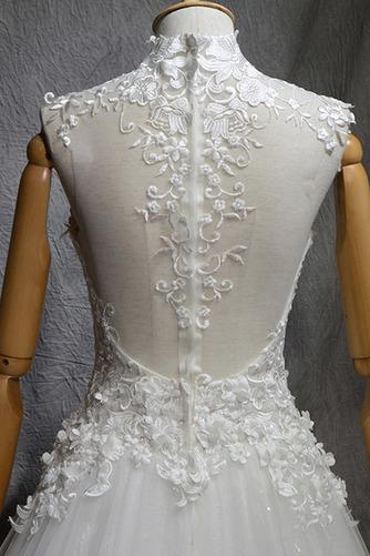Robe de mariée Naturel taille Haute Couvert Satin A-ligne Manquant - Page 5