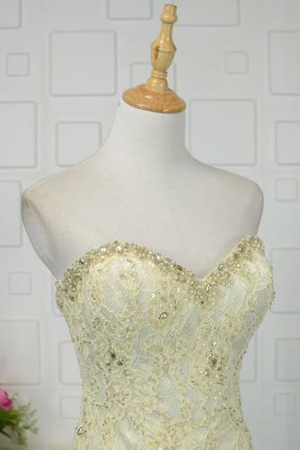 Robe de bal Moderne Sans Manches Naturel taille Ruchés Plongeants - Page 4