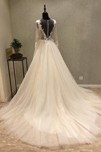 Robe de mariée Tulle Ample & Ornée Gaze Été Traîne Moyenne A-ligne - Page 4