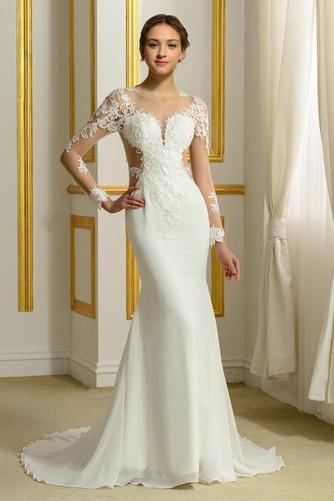 Robe de mariée Sans Manches Manquant Printemps Elégant Traîne Moyenne - Page 1