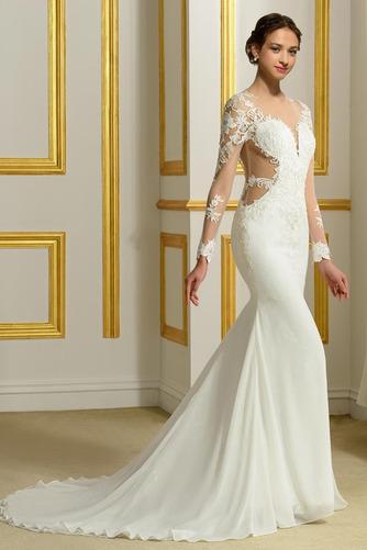Robe de mariée Sans Manches Manquant Printemps Elégant Traîne Moyenne - Page 2