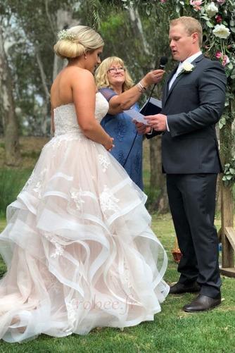 Robe de mariée Naturel taille Fermeture à glissière Printemps - Page 2