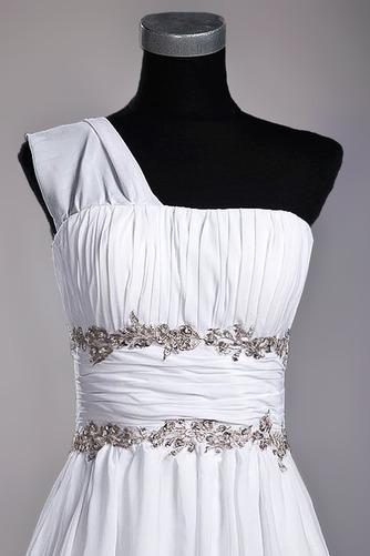Robe de mariage Fourreau plissé Drapé Une épaule A-ligne Mousseline - Page 5