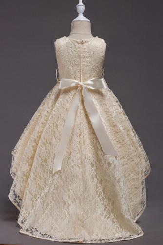 Robe de fille de fleur Col de chemise t Satin Mode Sans Manches - Page 4