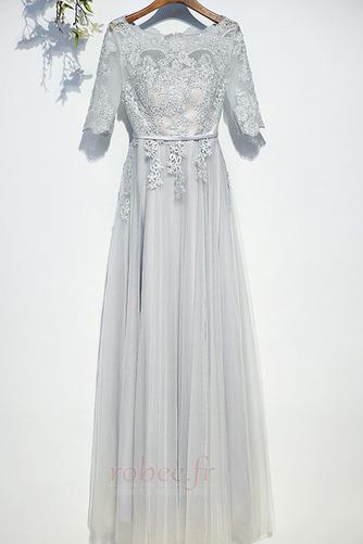 Robe de demoiselle d'honneur Manche Aérienne Festin Vintage Gaze - Page 1