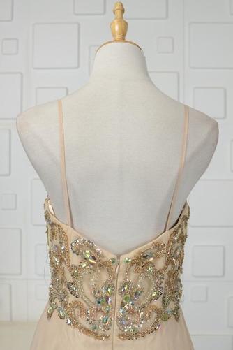 Robe de soirée Luxueux Mousseline Corsage Avec Bijoux Drapé Naturel taille - Page 5
