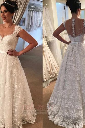 Robe de mariée Hiver Sans Manches Naturel taille Appliquer Cérémonial - Page 1