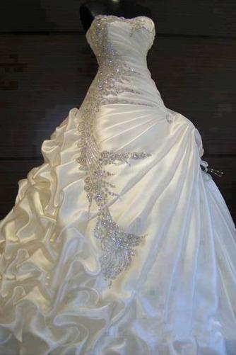Robe de mariée Hiver Scintillait Princesse Asymétrique Satin - Page 1