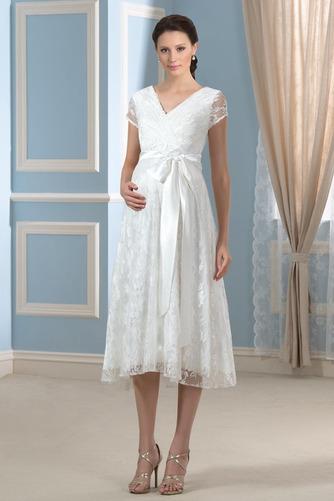 Robe de mariée Dentelle Luxueux Longueur de genou Taille haute - Page 1