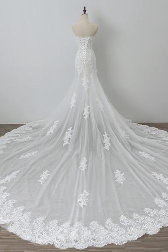 Robe de mariée Tulle Norme Automne Dépouillé Elégant Lacez vers le haut - Page 2