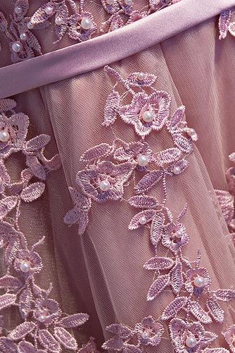 Robe de demoiselle d'honneur Drapé Scintillait a ligne Couvert de Dentelle - Page 4