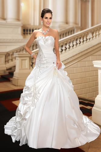 Robe de mariée Hiver Scintillait Princesse Asymétrique Satin - Page 4