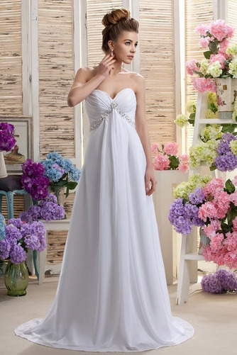 Robe de mariée Mousseline taille haute Médium Longueur de plancher - Page 1