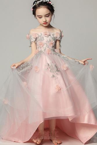 Robe de fille de fleur Satin Fleurs Été Fermeture à glissière - Page 1