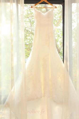 Robe de mariée Manquant Mancheron Elégant De plein air net Naturel taille - Page 7