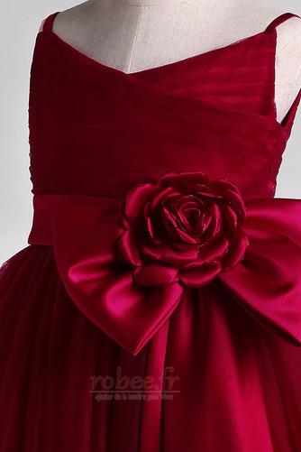 Robe de fille de fleur Orné de Nœud à Boucle Été Epurée Longueur Cheville - Page 8