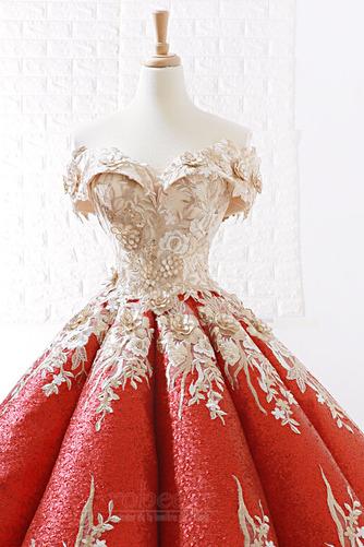Robe de bal Rosée épaule Manche Courte Laçage À la masse Étoilé - Page 5