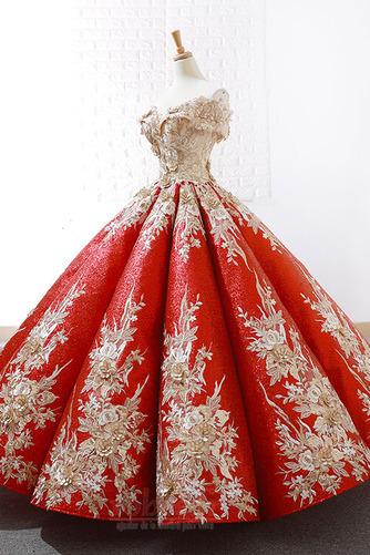 Robe de bal Rosée épaule Manche Courte Laçage À la masse Étoilé - Page 2