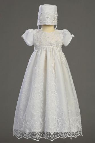 Robe de fille de fleur Manche Courte Longue Bouton Fermeture à glissière - Page 1