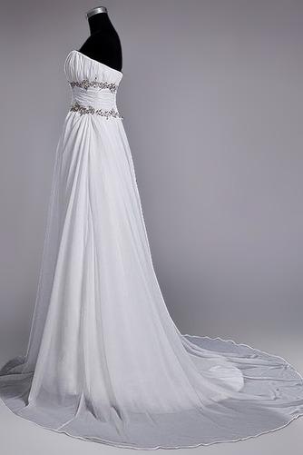 Robe de mariage Fourreau plissé Drapé Une épaule A-ligne Mousseline - Page 3