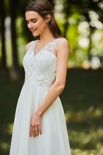 Robe de mariée Dos nu Col en V Drapé Sans Manches aligne De plein air - Page 4