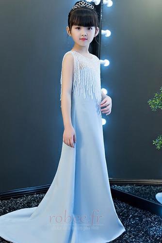 Robe de fille de fleur Chic Sans Manches Fermeture à glissière - Page 4