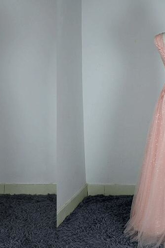 Robe de demoiselle d'honneur Chic A-ligne Glissière Rose Printemps - Page 4