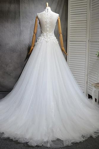 Robe de mariée Naturel taille Haute Couvert Satin A-ligne Manquant - Page 3