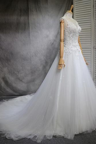 Robe de mariée Naturel taille Haute Couvert Satin A-ligne Manquant - Page 2