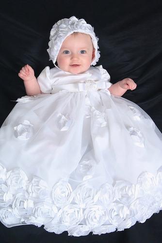 Robe de fille de fleur Blanche Manche de Bulle Longue Chapeau - Page 2
