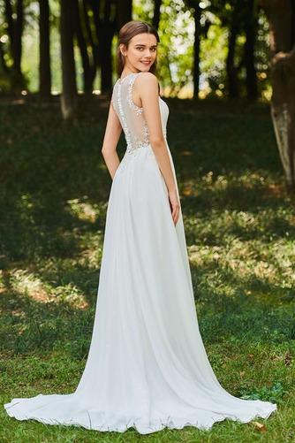 Robe de mariée Dos nu Col en V Drapé Sans Manches aligne De plein air - Page 3