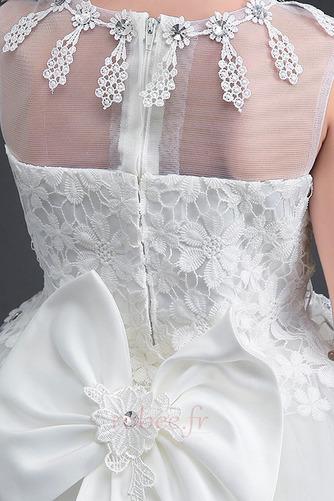 Robe de fille de fleur Longue Sans Manches Petit collier circulaire - Page 5