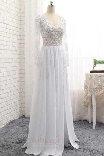 Robe de mariée A-ligne Longueur de plancher Manche Longue Plage - Page 3
