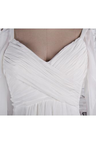 Robe de mariage crêper Sans Manches Salle des fêtes Été Milieu dos - Page 5