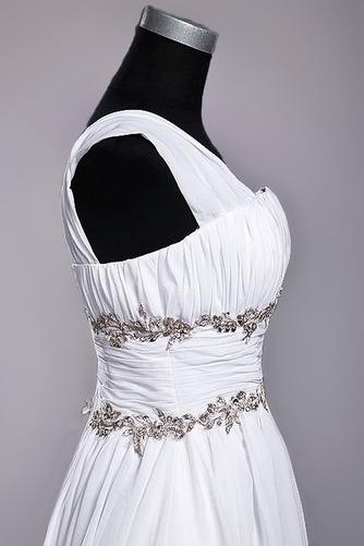Robe de mariage Fourreau plissé Drapé Une épaule A-ligne Mousseline - Page 6