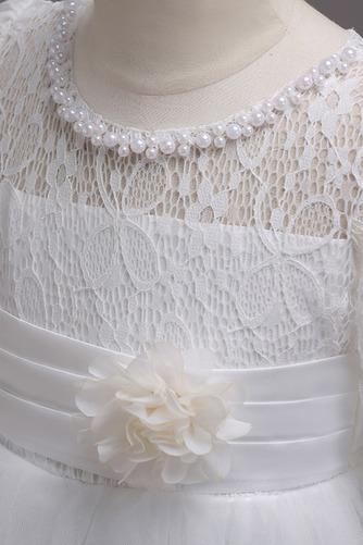 Robe de fille de fleur Manche Longue Pittoresque Dentelle Petit collier circulaire - Page 8