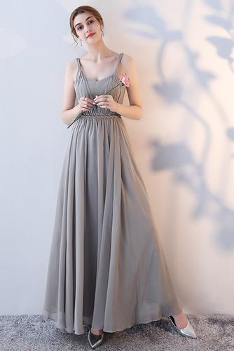 Robe de demoiselle d'honneur Laçage Sans Manches Mousseline A-ligne - Page 5
