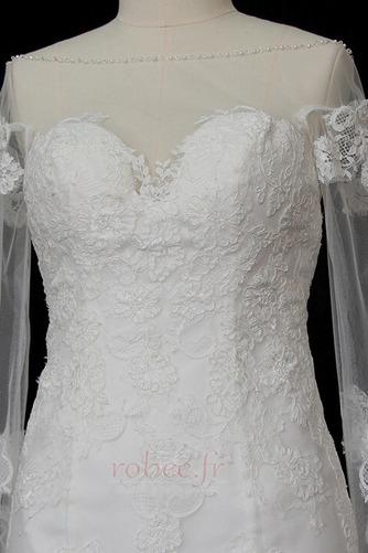 Robe de mariée Manche Longue Dentelle Eglise Col Bateau Formelle - Page 3