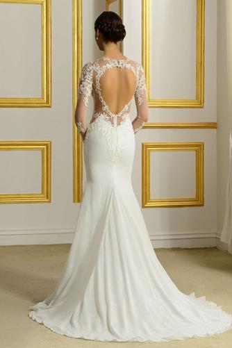 Robe de mariée Sans Manches Manquant Printemps Elégant Traîne Moyenne - Page 3