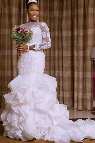 Robe de mariée Elégant Manche Aérienne Sirène De plein air Médium - Page 1