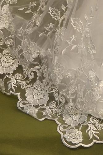 Robe de fille de fleur Dentelle Cérémonie Longue Naturel taille - Page 4